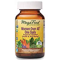 MegaFood, Women Over 40 One Daily, Daily Multivitamin and Mineral Dietary Supplement with Vitamins C, D, Folate, Biotin and Iron, Non-GMO, Vegetarian, 60 Tablets (60 Servings)