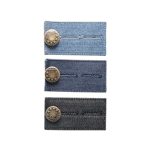 Trousers and Skirt Jeans Waist Extender with Metal Button for Pants