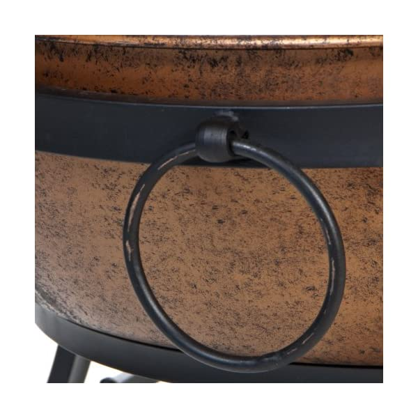 DeckMate 991049 Kay Home ProductS Avondale Steel Fire Bowl Copper Colored