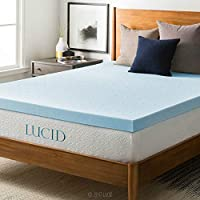 LUCID 3-inch Ventilated Gel Memory Foam Mattress Topper - Twin XL