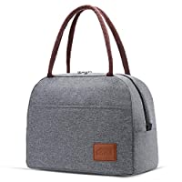 Moyad Lunch Bags Large Cooler Tote Bag Insulated Lunch Box Thermal Food Container for Women, Men, Adults 10L Gray