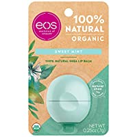 eos Natural & Organic Sphere Lip Balm - Sweet Mint | Certified Organic & 100% Natural | Deeply Hydrates and Seals in Moisture | 0.25 oz (Packaging May Vary)