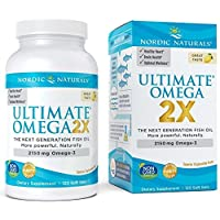 Nordic Naturals Ultimate Omega 2X - Extra Omega-3s Support Heart, Brain, and Immune Health*, 120 Count