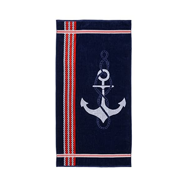 Soft Velour Cotton and Absorbent Cotton Terry Superior Luxurious 100/% Cotton Beach Towels Blue Sefina Stripes Thick and Plush Striped Beach Towels Oversized 34 x 64