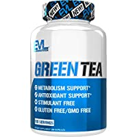 Evlution Nutrition Green Tea Leaf Extract Supplement with EGCG for Metabolism and Antioxidant Support, Stimulant Free, Gluten Free, 100 Servings