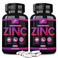 Zinc 50mg Picolinate for Immune Support Booster, Zinc Vitamin Supplements for Adults Kids - Zinc Pills Offer High Potency Alternative to Lozenge, Chewable Tablets, Liquid (4 Month Supply)