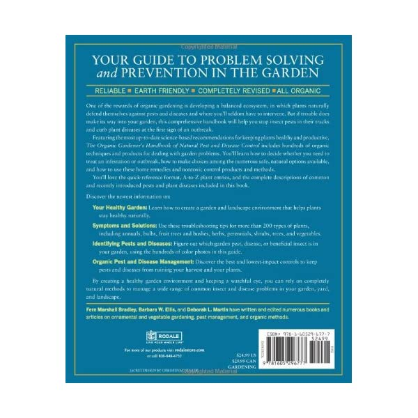 The Organic Gardener's Handbook of Natural Pest and Disease Control: A Complete Guide to Maintaining a Healthy Garden and Yard the Earth-Friendly Way (Rodale Organic Gardening)                         (Paperback)