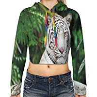 Women's Cropped Hoodie,Funk Style Cute Cloud Forms Made with Spiral Lines Twister Cyclone Drawing Print,S-XL