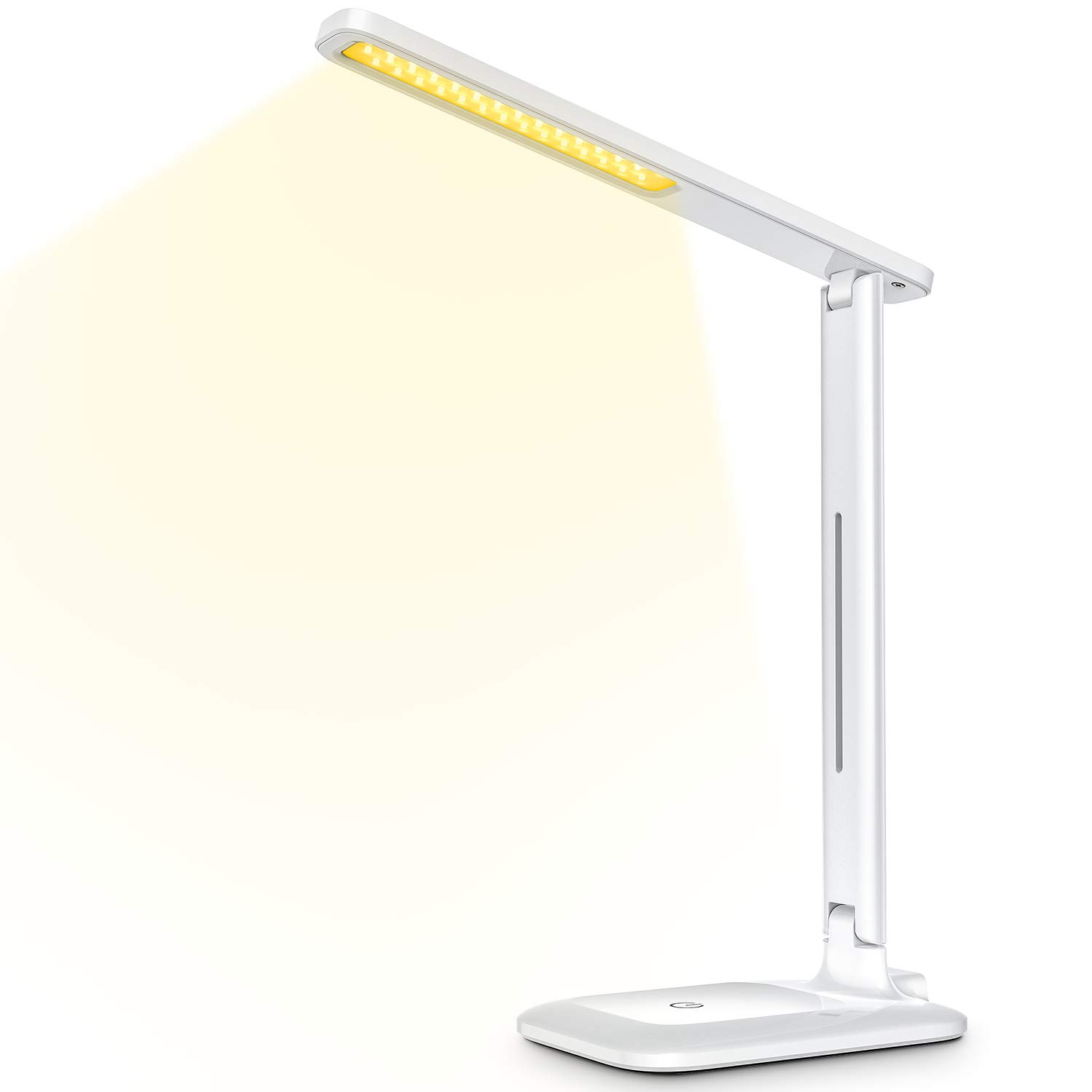 Home TOPELEK Eye-Caring Table Lamp Reading Warm White Sensitive Touch Control Working Stepless dimming Portable and Compact Studying for Office LED Desk Lamp