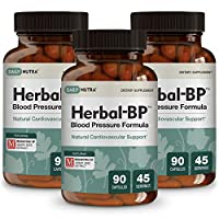 Herbal-BP Natural Blood Pressure Supplement by DailyNutra - Supports Cardiovascular Health & Stress Management | Medical Grade Plant Extracts - Safe, Long-Term Support (3-Pack)