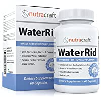 Natural Diuretic Water Pill with Dandelion and Potassium to Lose Water Weight and Bloating Relief - Premium Herbal Water Retention Supplement - 60 Capsules - Made in USA
