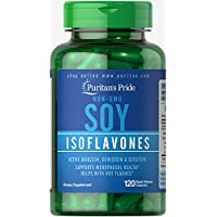 Puritans Pride Non-GMO Soy Isoflavones 750 Mg Rapid Release Capsules, No Artificial Color, 120 Count (Pack of 1)