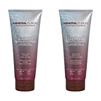 Mineral Fusion Curl Care Shampoo and Conditioner Bundle with Certified Organic Aloe Vera Leaf Juice, Malachite Extract, Smithsonite Extract, Linseed Oil, Olive Oil and Argan Oil, 8.5 fl. oz. each