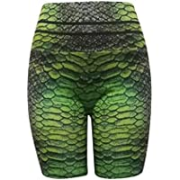 Women's High Waisted Yoga Shorts,Ladies Skinny Fitness 3D Printed Quick-Dry Leggings Workout Casual Active Shorts