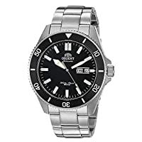 Orient Men's Kanno Japanese-Automatic Diving Watch with Stainless-Steel Strap, Silver, 20 (Model: RA-AA0008B19A)