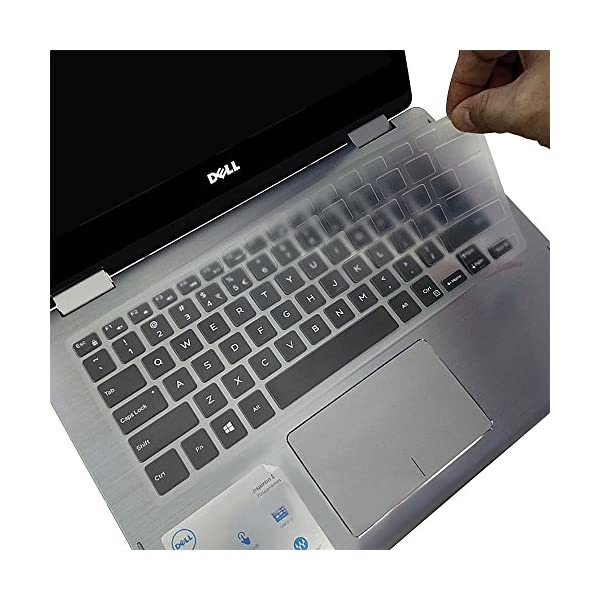 for Dell XPS 15 Keyboard Cover Ultra Thin Clear Keyboard Skin for 2019 DELL XPS 15-7590 15-9570 15-9560 15-9550 15.6 Laptop NOT Fit XPS 15 9575 DELL Precision 15-5510 M5510 Keyboard Cover
