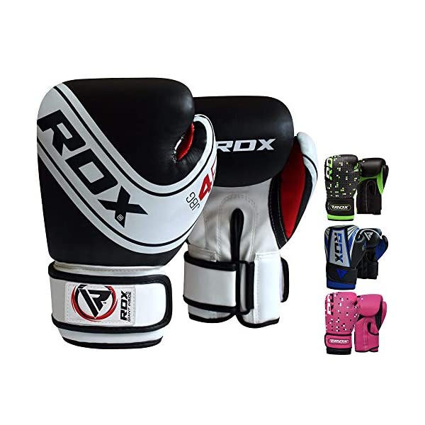 Pair Leather 6oz Kids Boxing Gloves Junior Punch Bag MMA Training Muay Thai Mitts Focus Pad Red Target Boxing Set