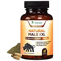 Natural Male XXL Pills Aids Natural Size, Stamina, Strength & Mood - Extra Strength Enlargement and Energy Support - Made in USA - Prime Performance Endurance Supplement for Men - 60 Capsules