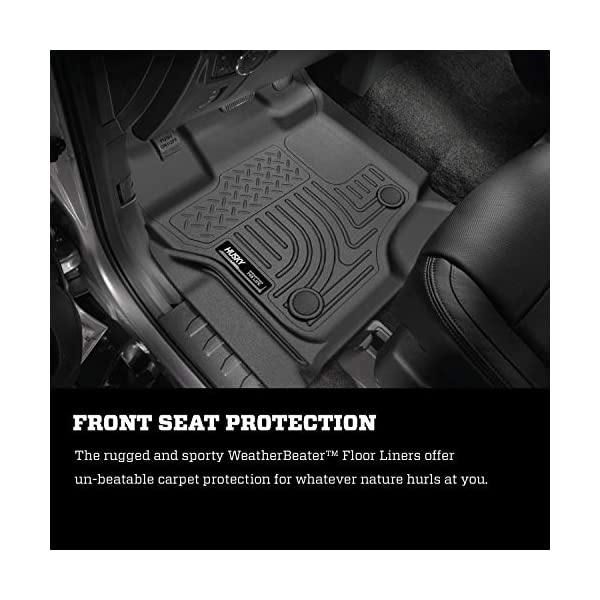Black Husky Liners 98341 Custom Fit Front and Second Seat Floor Liner Set for Select Ford F-150 Models
