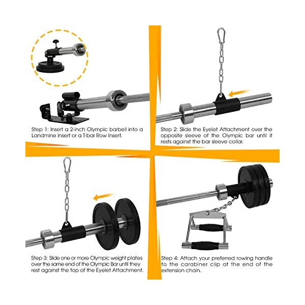 EVERSTRONG T Bar Row with V Bar Attachment Fits 1 and 2 Inches Olympic Bars Gym Equipment T Bar Row Landmine Attachment Home or Small Spaces T Bar Row Platform for Deadlift Squat Tricep Exercises