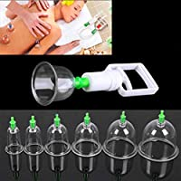 Kikole Cupping Therapy Equipment Set with Pumping Handle 12 Cups Silicone Vacuum Suction Cupping Cups, Muscle, Nerve, Joint Pain Relief