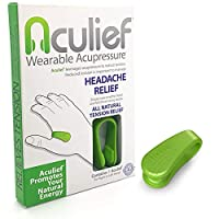Aculief - Award Winning Natural Headache, Migraine and Tension Relief - Wearable Acupressure - Stress Alleviation - Simple, Easy, Effective - (Green)