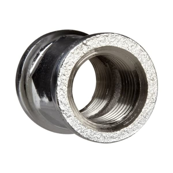 Polished Nickel Finish Naiture Brass 1//2 Ips Threaded Pipe Fitting Coupling