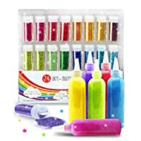 Original Stationery Bundle Includes: Extra Fine Glitter Shake Jars & Glitter Glue Art Kit, Perfect for School Projects, Slime Stuff for Making Slime & More