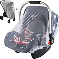 Mosquito Net for Stroller and Car Seat, Universal Size, Long Lasting Infant Insect Shield Netting, Fit Most Strollers,Car Seats, Infant Carrier,Playards, 2 Pack(M+L)