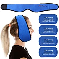 LotFancy Gel Ice Pack with Wrap, Reusable Hot Cold Pack for Therapy, Pain Relief for TMJ, Wisdom Teeth, Face, Head, Chin Jaw Oral and Facial Surgery, Dental Implants