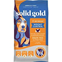 Solid Gold - Fit & Fabulous with Natural Chicken, Sweet Potato & Green Bean Recipe - Grain Free Holistic Weight Control Dry Adult Dog Food - 4lb Bag