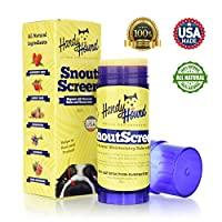 Handy Hound SnoutScreen | Nose Balm | Moisturizing All Natural Balm and Sunscreen Heals Dry, Chapped, Cracked, and Crusty Dog Snout and Protects from Sun and Insects, 2 oz