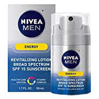 NIVEA Men Energy Lotion - Broad Spectrum SPF 15 Sunscreen for Face - 1.7 Fl. Oz. Bottle