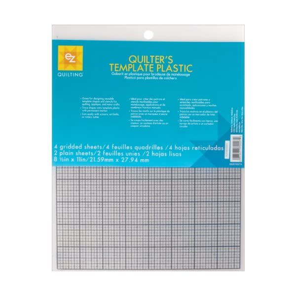 6-Piece Wrights EZ Quilting 882670027 Quilters Template Plastic Assortment