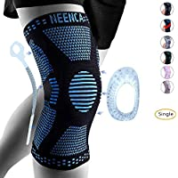 NEENCA Professional Knee Brace,Knee Compression Sleeve Support for Men Women with Patella Gel Pads & Side Stabilizers,Medical Grade Knee Pads for Running,Meniscus Tear,ACL,Arthritis,Joint Pain Relief