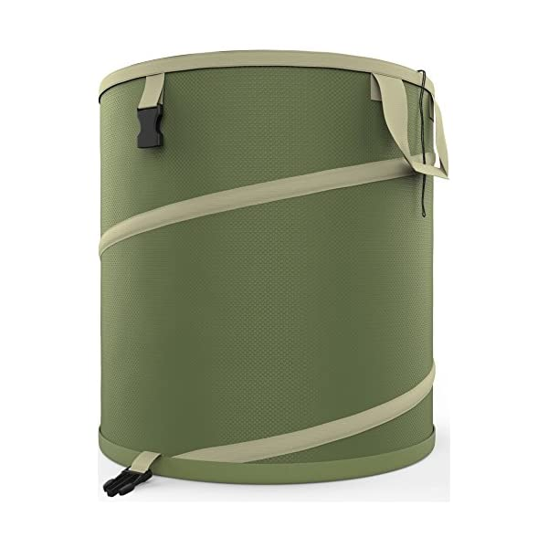 Jardineer Reusable Leaf Bags Holder-Collapsible Pop Up Garden Bag-Yard Waste Container for Gardening or Camping 30 Gallon