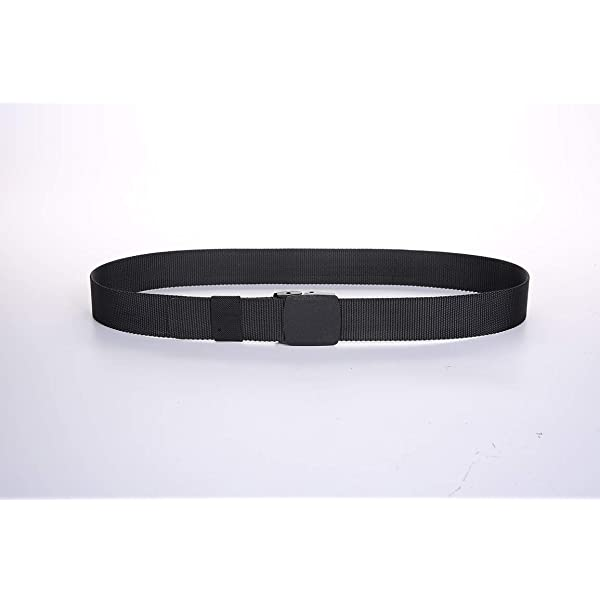 EAGLIDE Mens Tactical Nylon Belt,Mens Outdoor Durable Lightweight Webbing Waist Belt with Plastic Buckle