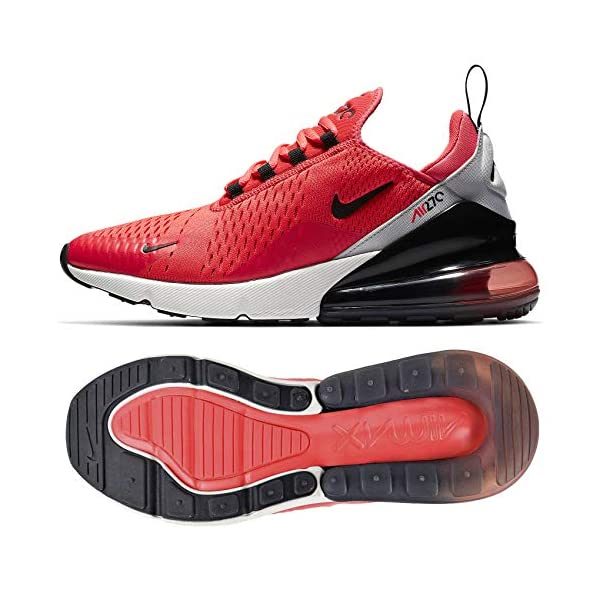 air max 270 red black and grey