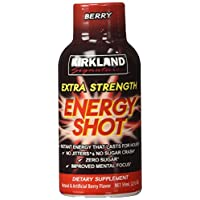 Kirkland Signature Extra Strength Energy Shot Berry, Pomeganate and Grape, 2 oz, 48 Count