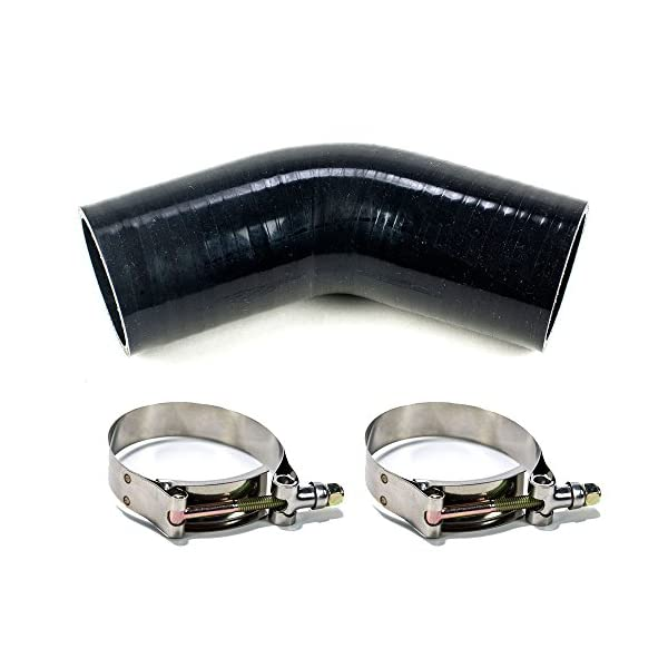 4 Pack Squirrelly 4 inch Heavy Duty Stainless Steel T-Bolt Clamp for 4 inch Turbo Intake Intercooler Hose