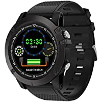 cnBro Smart Watch for Men Military Watch Fitness Tracker Watches Heart Rate Monitor Smartwatch Physiological Data Records Sleep Monitor Pedometer Calorie Counter Activity Fitness Tracker Waterproof
