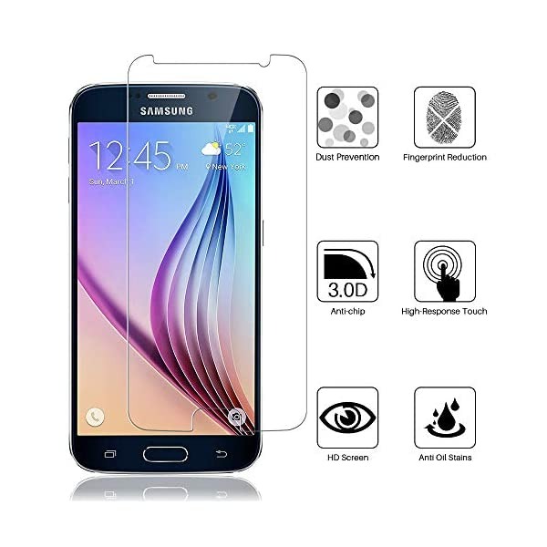 Shatter-Resistant Screen Protector Portable Soft TPU Protective Case for Samsung Galaxy S6 SM-G920V Verizon Tempered Glass