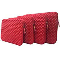 Red AZ-Cover 11.6-Inch Simplicity Stylish Diamond Foam Shock-Resistant Neoprene Sleeve Intel Dual-Core For Acer Aspire One 11 Cloudbook 11.6-inch Laptop