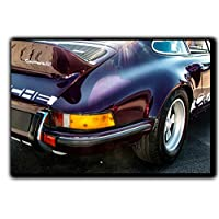 Porsche 911 Rs Wall Art Decor Picture Painting Poster Print on Canvas Panels Pieces - Vintage Car Theme Wall Decoration Set - Porsche Wall Picture for Showroom Office 33 by 50 in