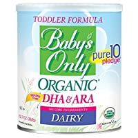 Baby's Only Dairy with DHA & ARA Toddler Formula - Non GMO, USDA Organic, Clean Label Project Verified, 12.7 oz (Pack of 6)