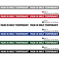 Motivational Silicone Wristbands with Custom Sayings Pain is Only Temporary Peakline Sports Triathlons Perfect Inspiration for Marathons or Any Athletic Event.