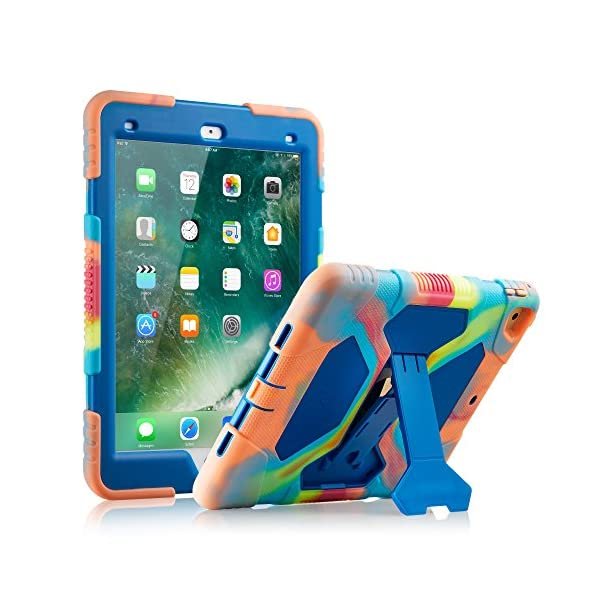 for Apple iPad Pro 11 2018 Armor Blue Holds 2nd Gen Apple Pencil KIQ Full-Body Heavy Duty Military Rugged Shockproof Case Cover Stand Screen Protector iPad Pro 11-inch Case