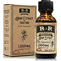Hemp Oil 1000mg :: Hemp Oil for Pain :: Stress Relief, Mood Support, Healthy Sleep Patterns, Skin Care (1000mg, 33mg per Serving x 30 Servings) : R+R Medicinals