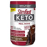 Slimfast Keto Meal Replacement Powder Fudge Brownie Batter Canister, 13.4 Ounce, Pack of 1