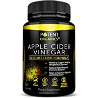 100% Natural Apple Cider Vinegar - 90 Capsules For Healthy Diet & Weight Loss- Pure, Raw, Vegan and Non-GMO - Helps Digestion - Made in USA - Add to Garcinia Cambogia and Your Diet Kits & Systems